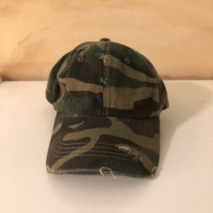 Ripped camo hat